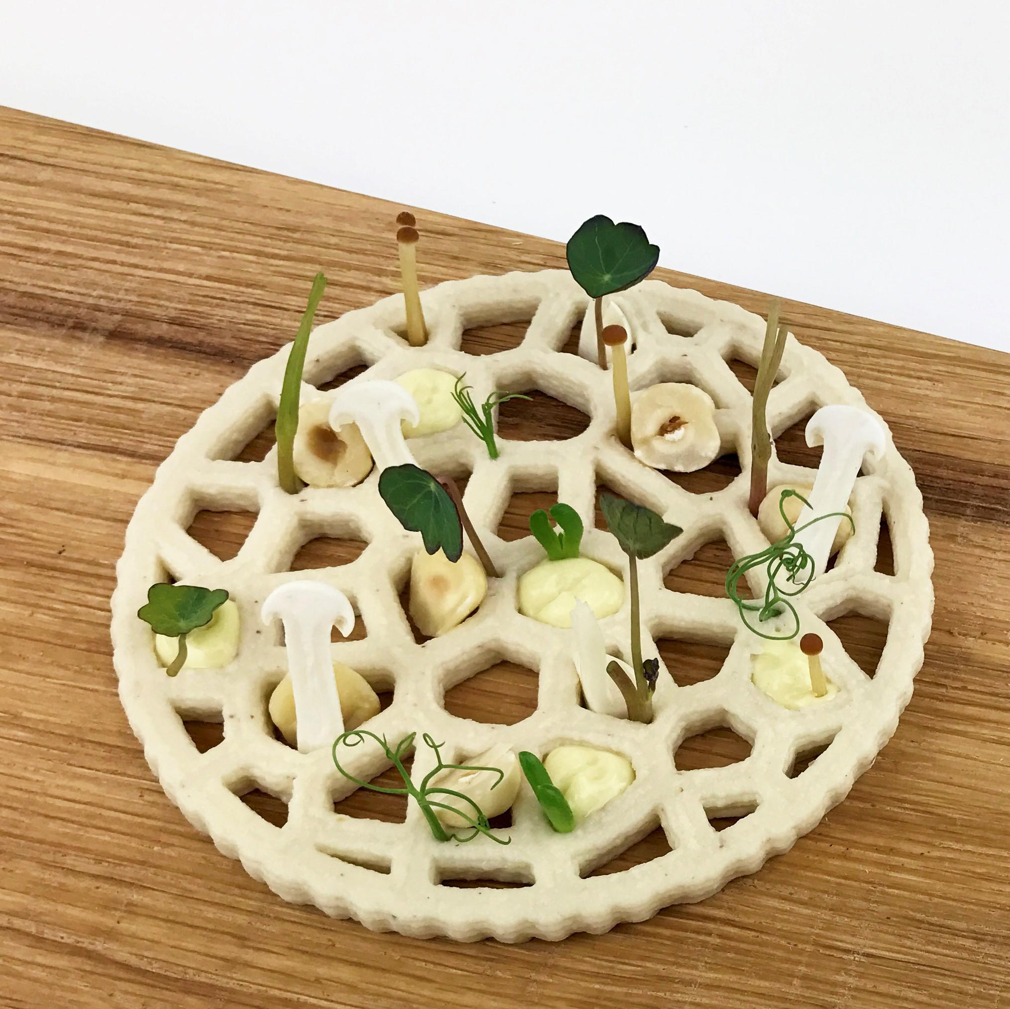 3D printed hummus