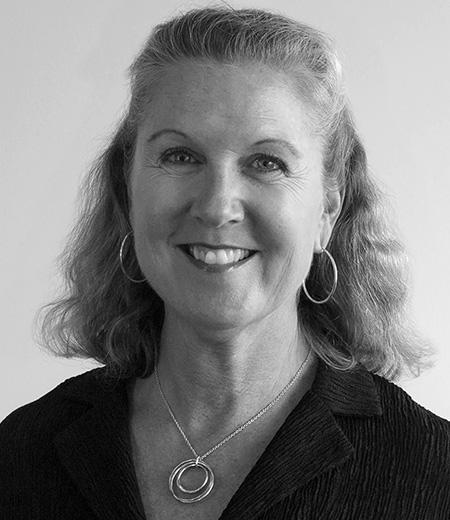 Sue Black and White Headshot