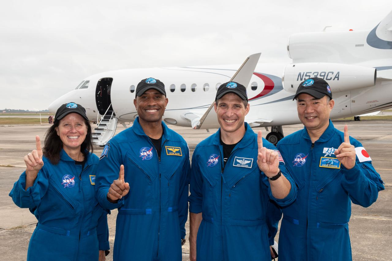 NASA/SpaceX crew-1 departs for KSC. Photo courtesy of NASA.