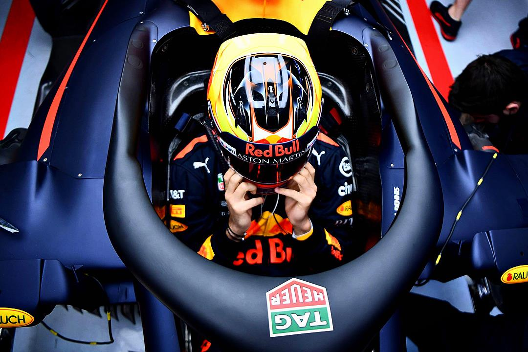 Jake Dennis Aston Martin Red Bull Racing Simulator Driver Helmet Design