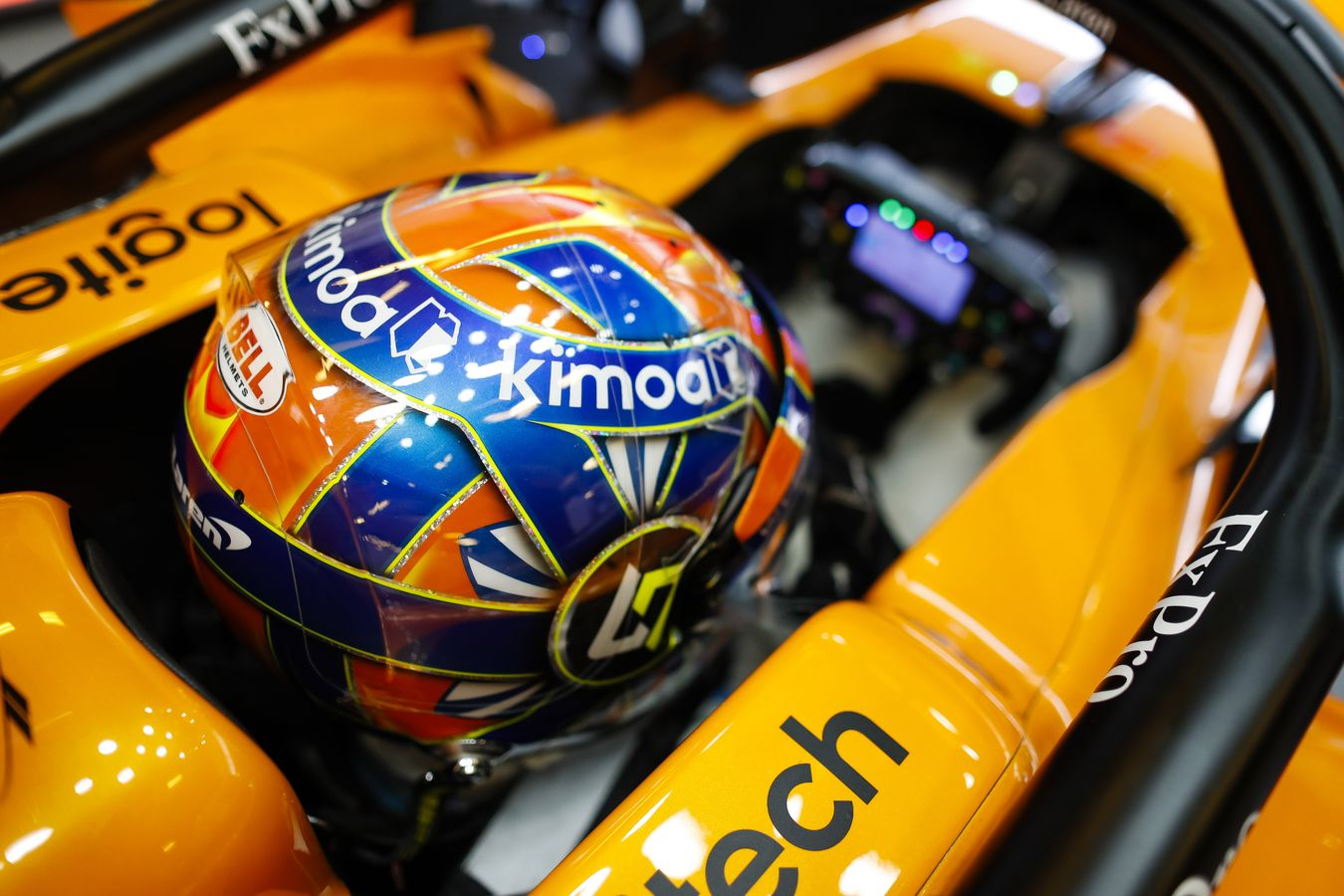 Lando Norris 2019 McLaren Formula 1 Driver Helmet Design
