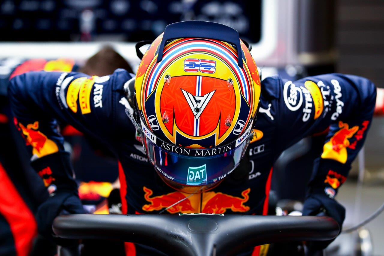 Harry Thompson Red Bull Junior Team Helmet Race Suit