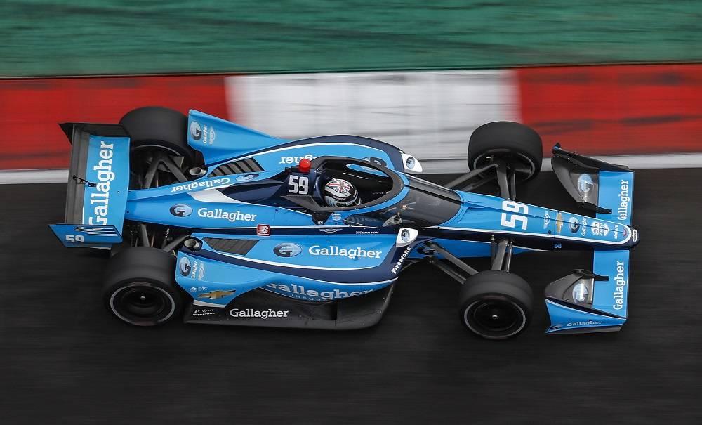 Max Chilton Carlin Gallagher Indycar Livery