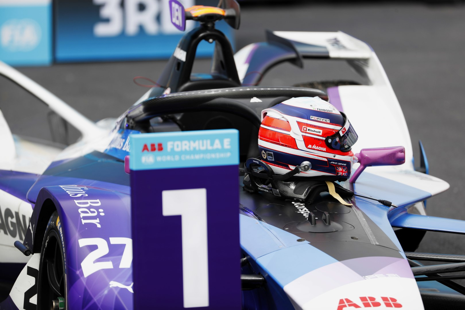 Jake Dennis FIA Formula E 2021 BMW iAndretti Helmet Design