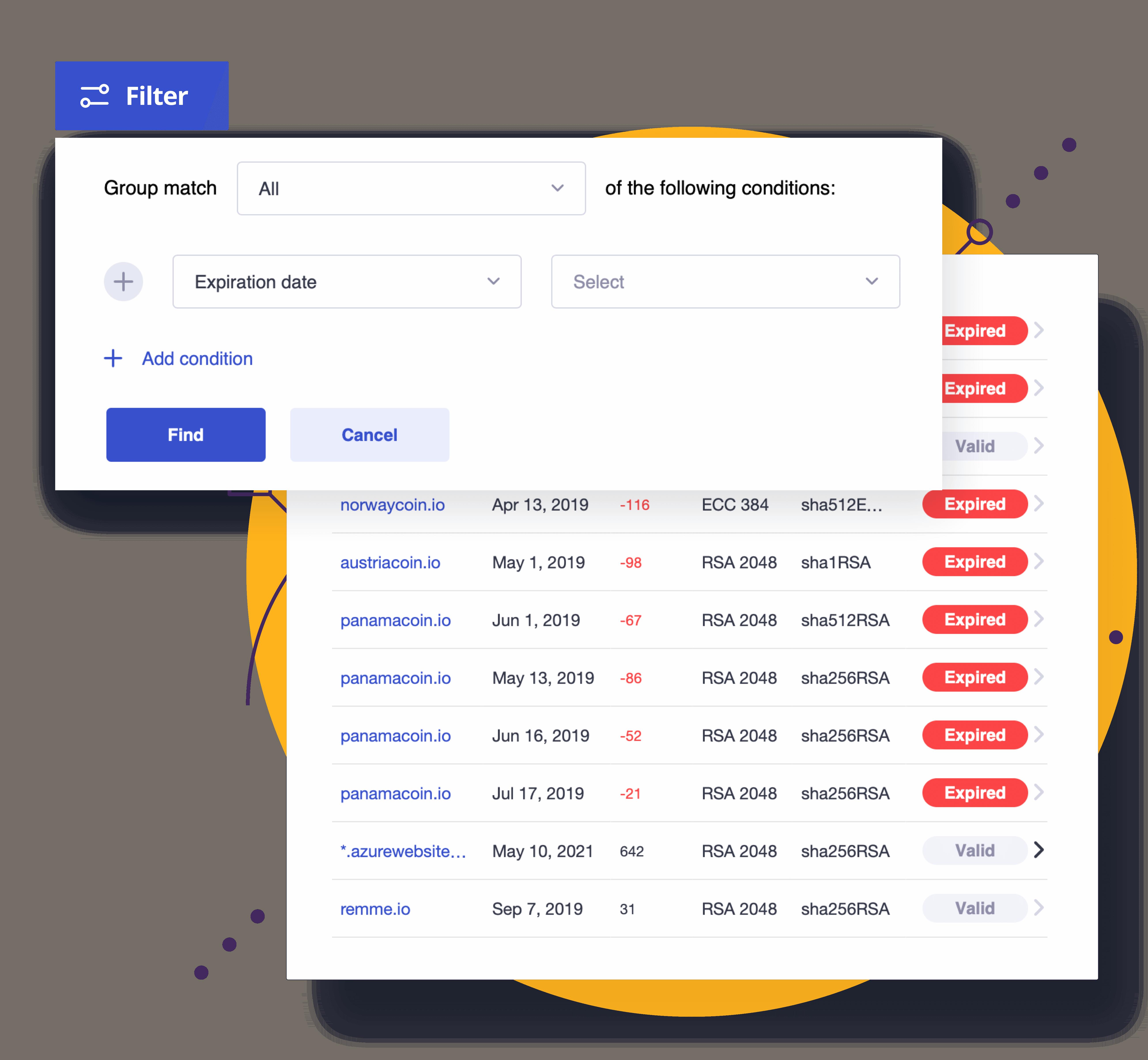 Keyhub: certificate inventory