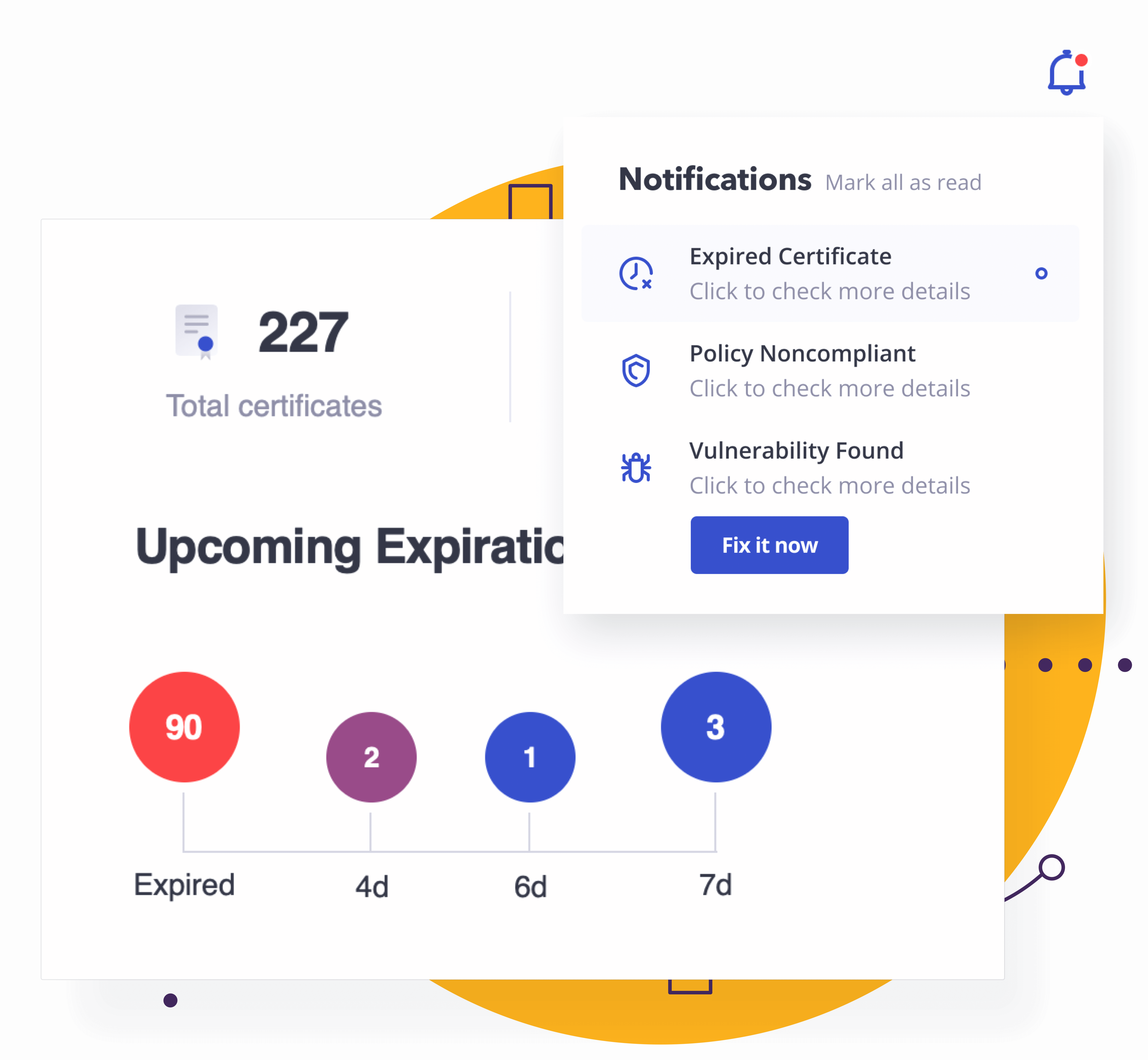 Keyhub: certificate expiration alerts