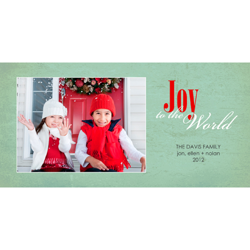 Flat Card 1 sided Christmas Card