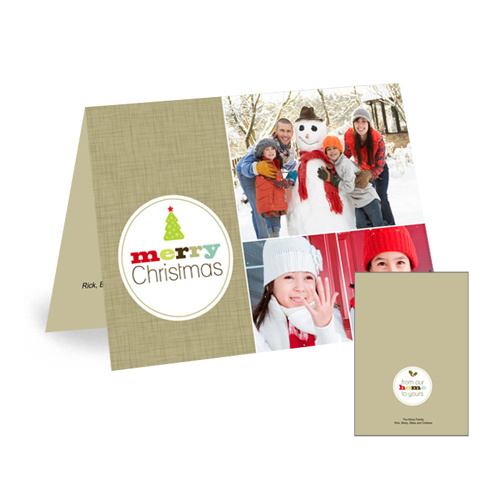 Flat Card Folded Christmas Card