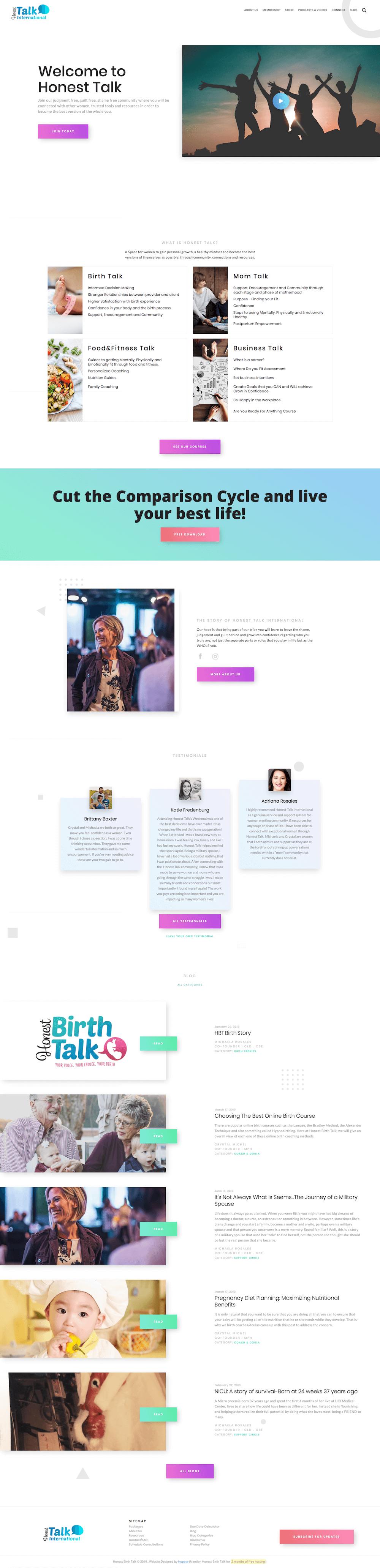 Honest Talk's Website Preview