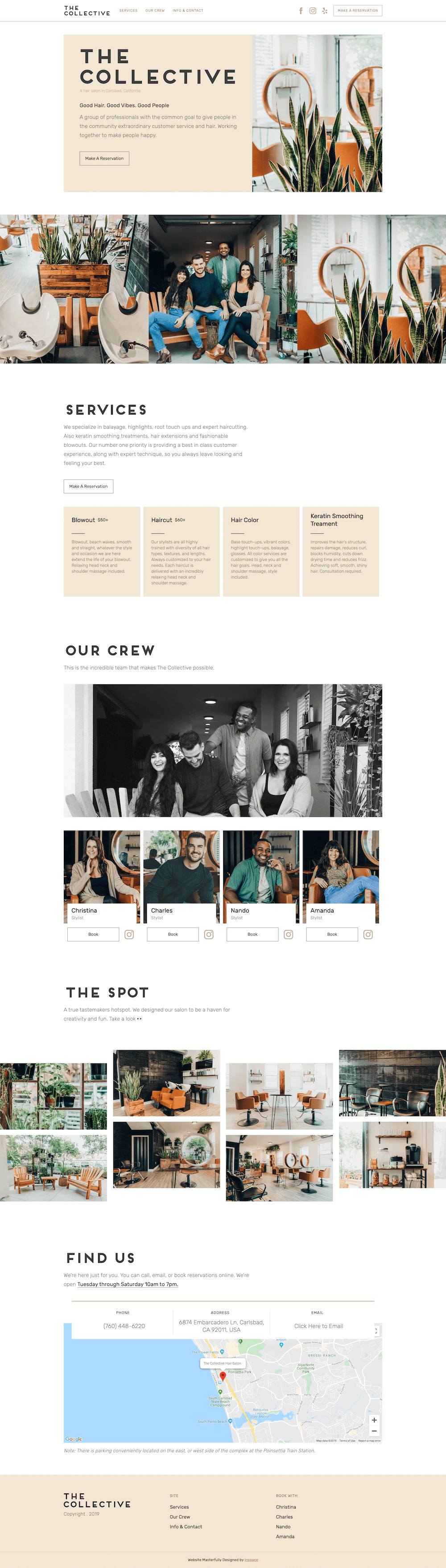 The Collective Hair Website Preview