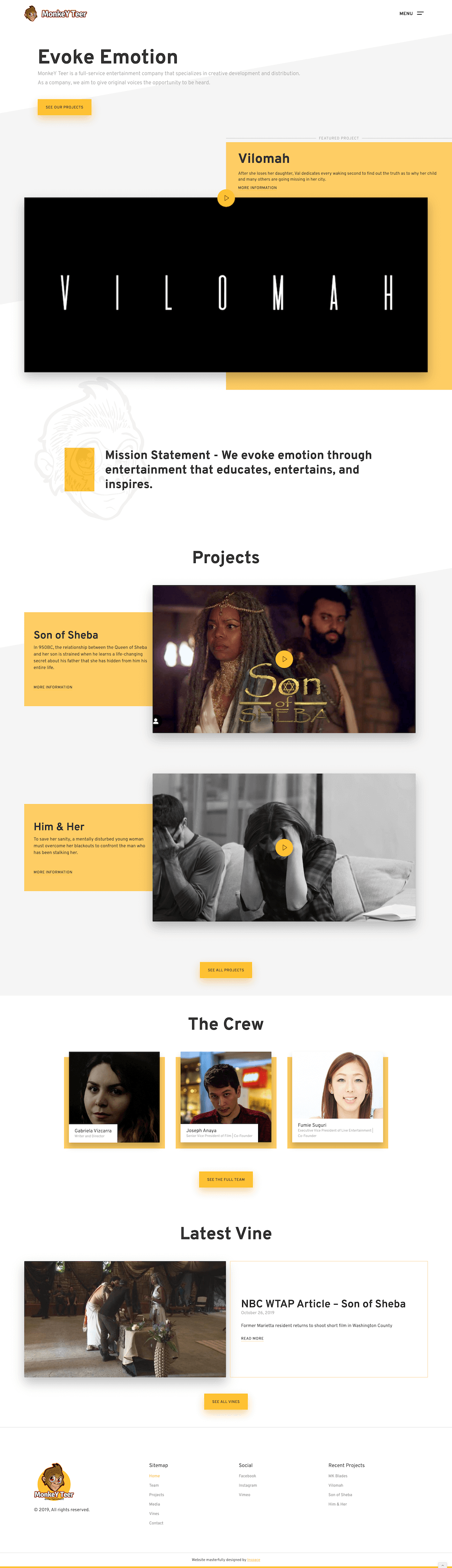Monkey Teer Website Design by Inspace