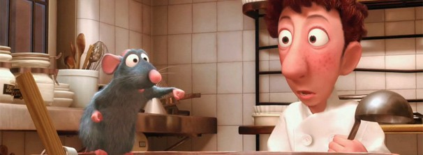 Cena do filme Ratatouille, da Pixar.