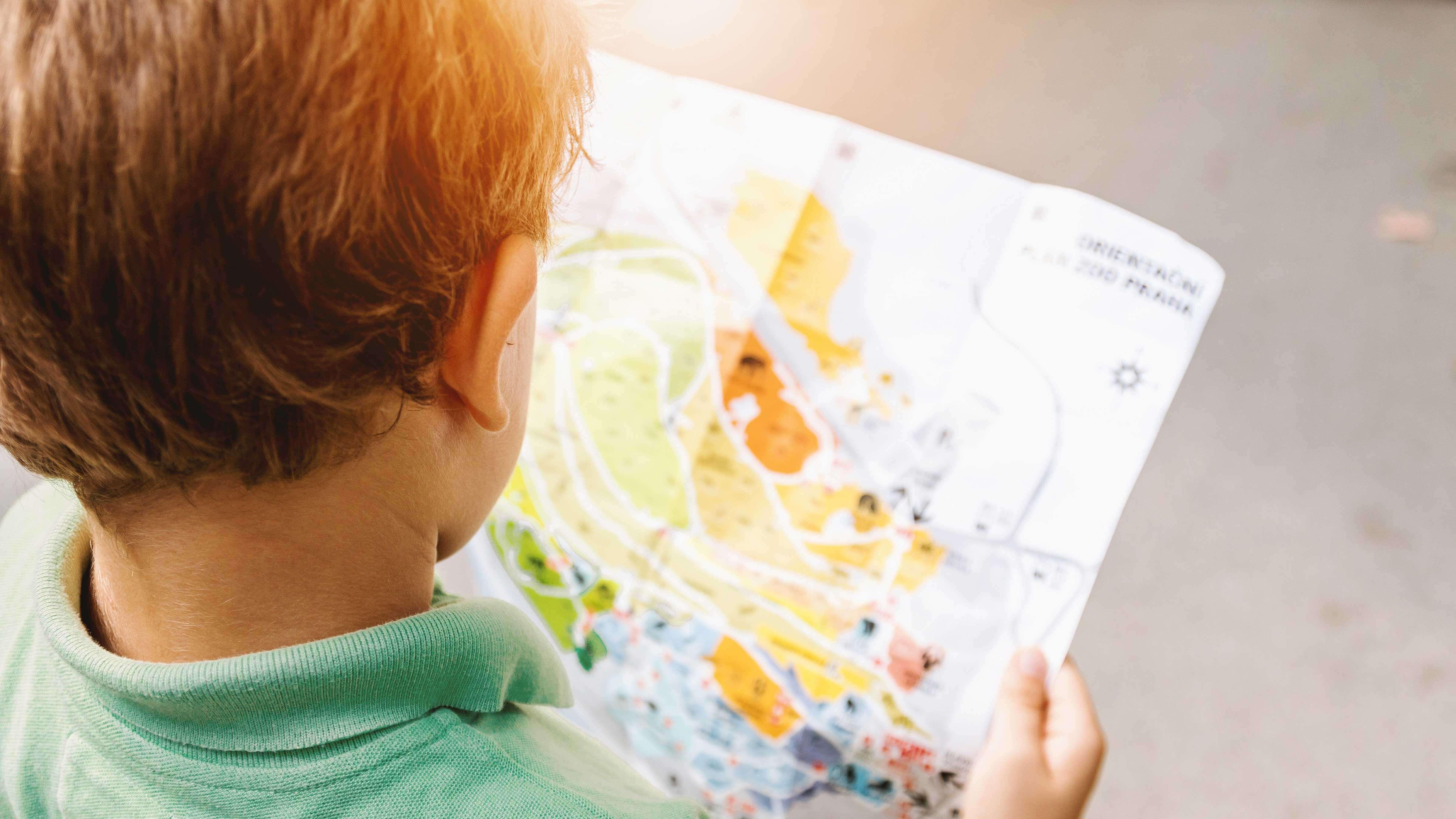 7 Dicas para Formar Filhos Leitores - Criança lendo mapa