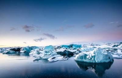 Nordlichter und Gletscherlagune