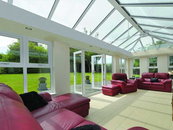 Photo of a glass roof on a Conservatory - KB Glass