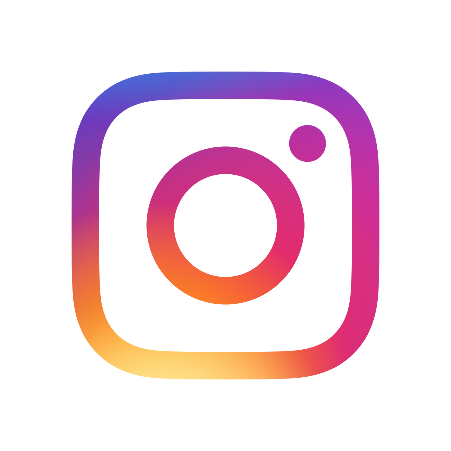 multicolored instagram icon with link to Indian River Mall page