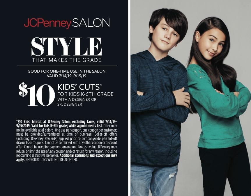 JC Penney Salon $10 kids' cut
