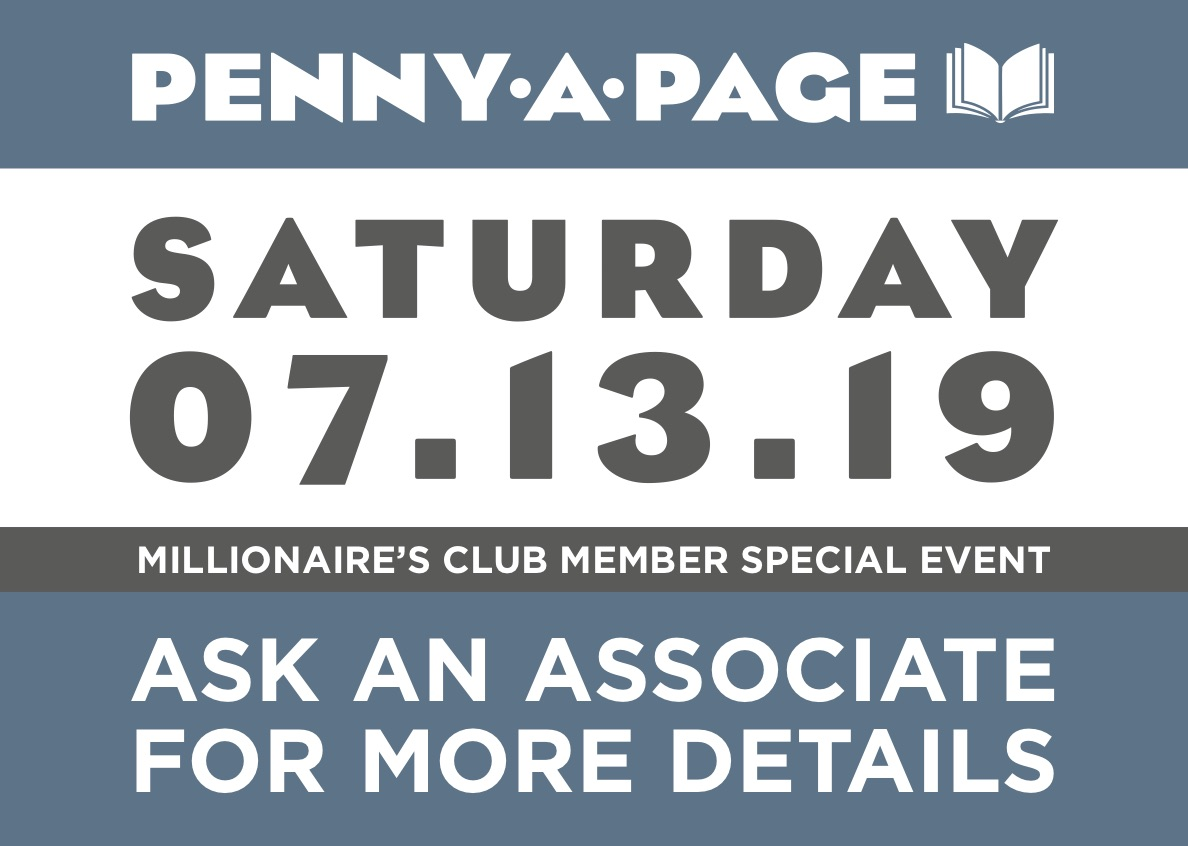 Millionaire's Club Member special event. Ask an associate for more details.