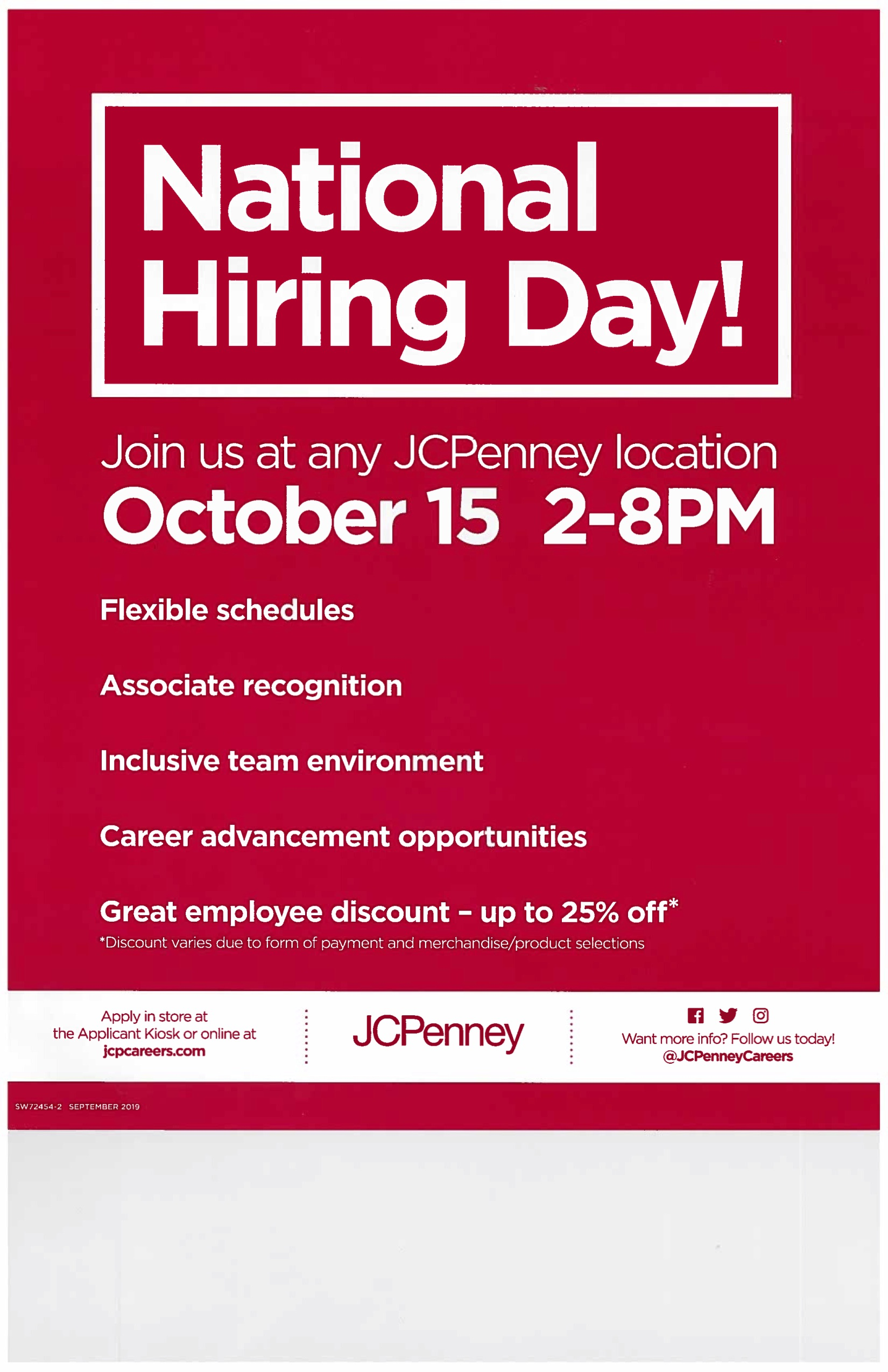 jcpenney national hiring event