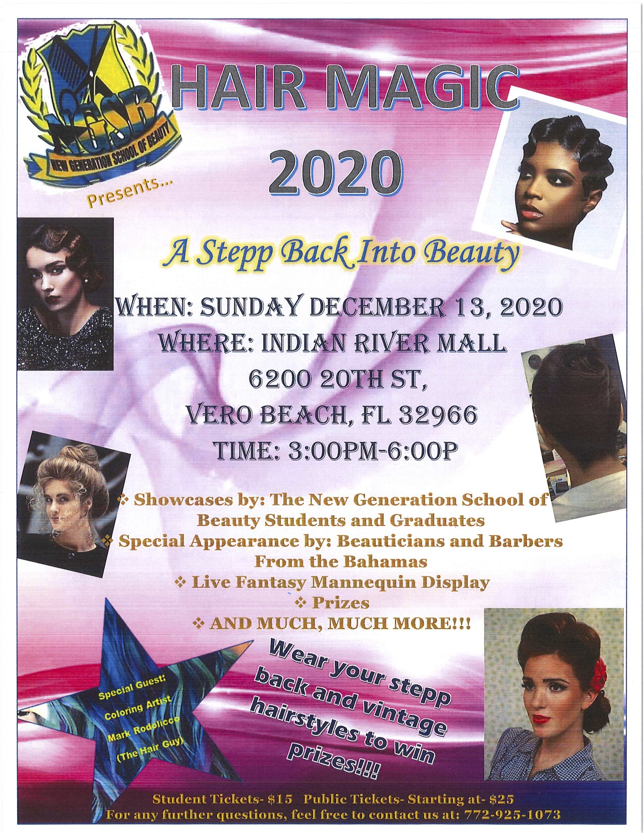 Hair Magic 2020 Show on December 19 at Indian River Mall