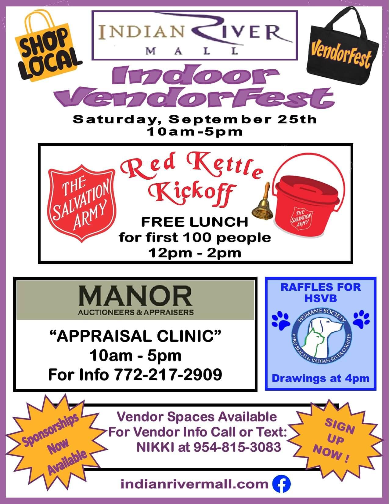 September 2021 Indoor Vendor fest poster