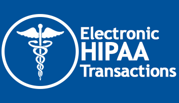 A blue button that takes you to the HIPAA information