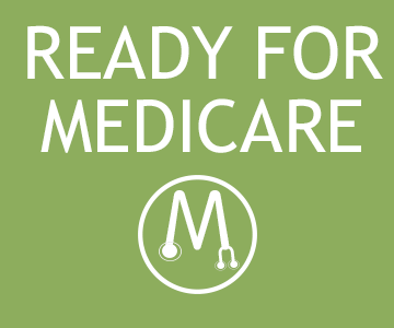 A green square button that takes you to the medicare choices