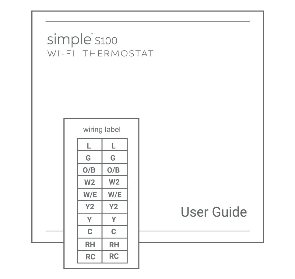 Simple Thermostat Wiring Diagram