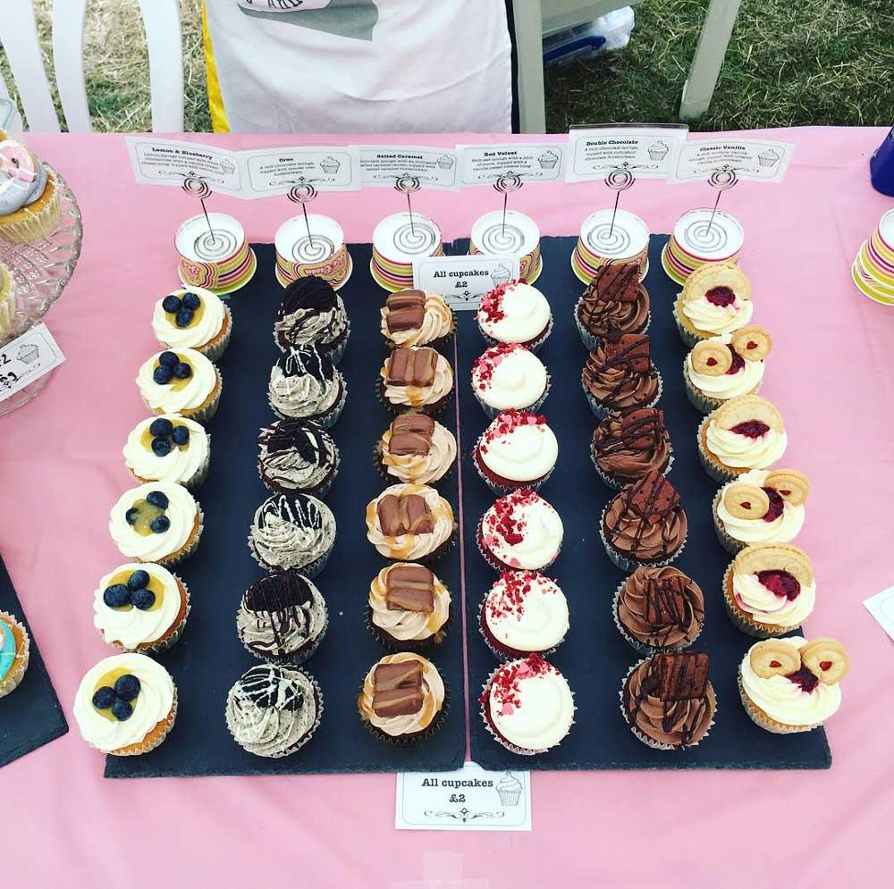cupcakes on slate