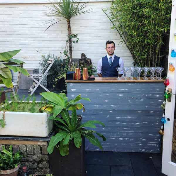 Chabby chic mobile bar hire
