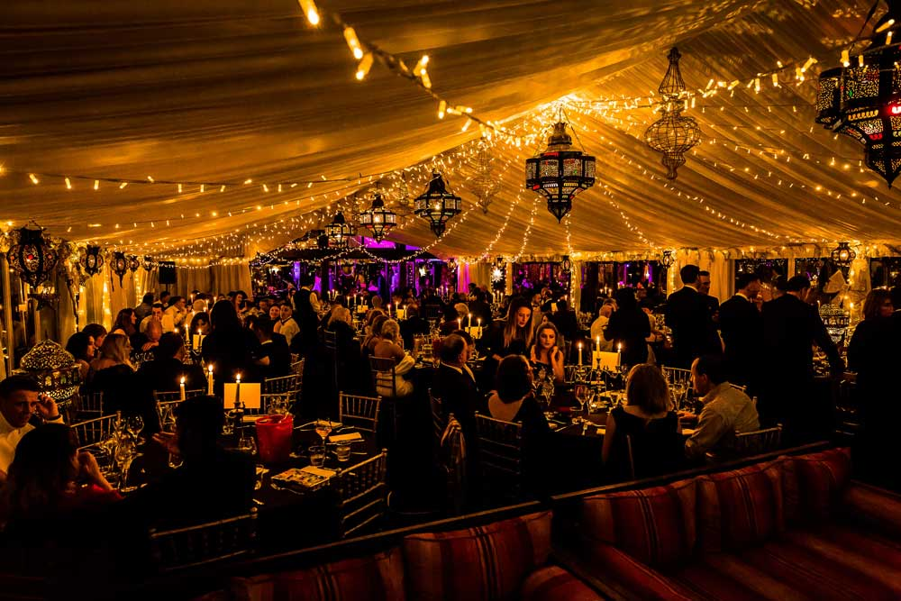 Beautiful Marquee set up with fairy lights