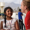 Dr. Elkins provides quality care for a young patient, Mission Trip to Chimbote, Peru
