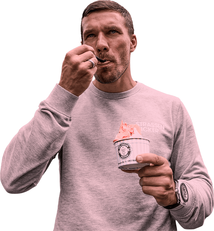 Ice Cream United Lukas Podolski