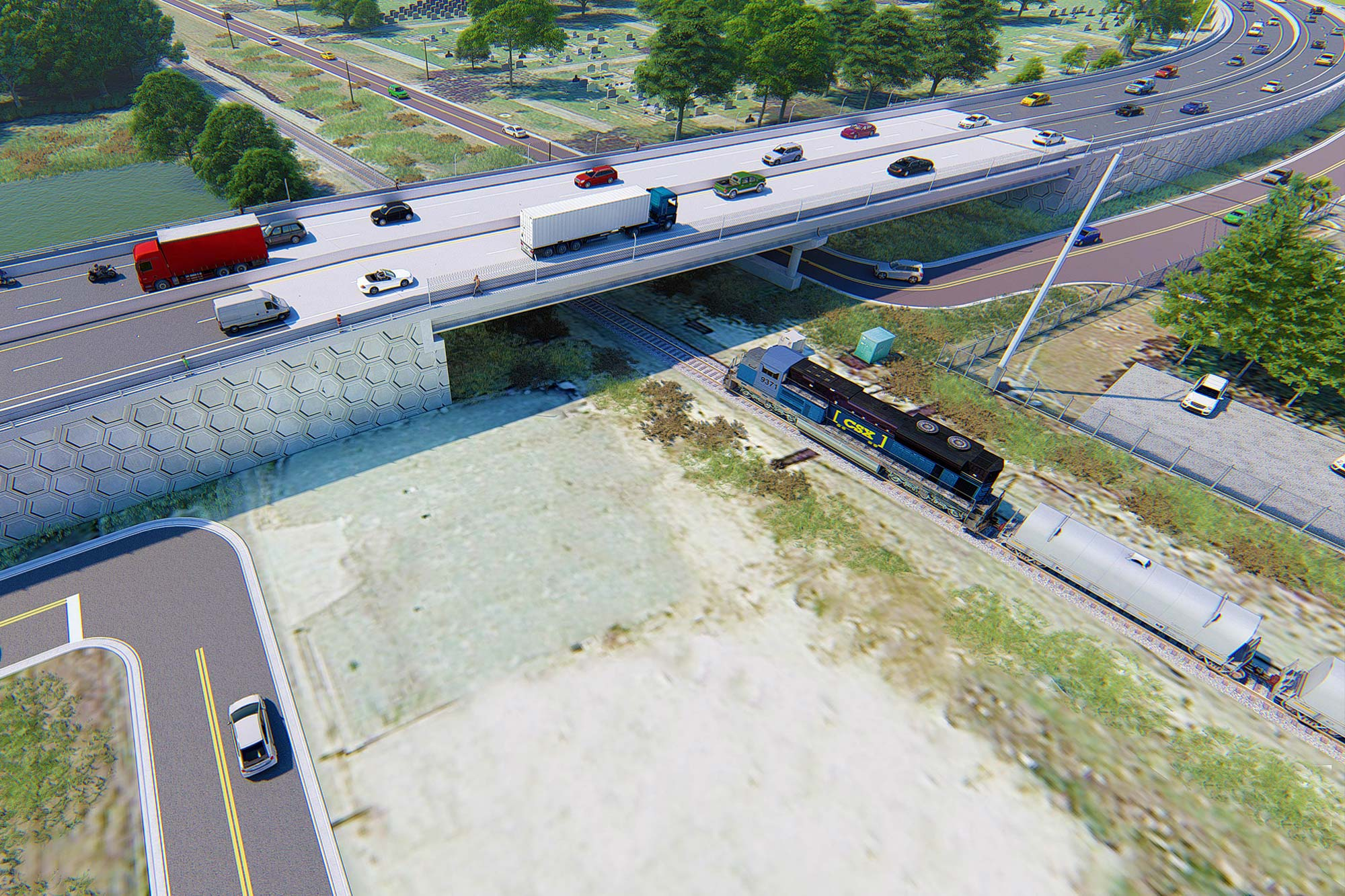 Recker Highway Over CSX Railroad Crossing