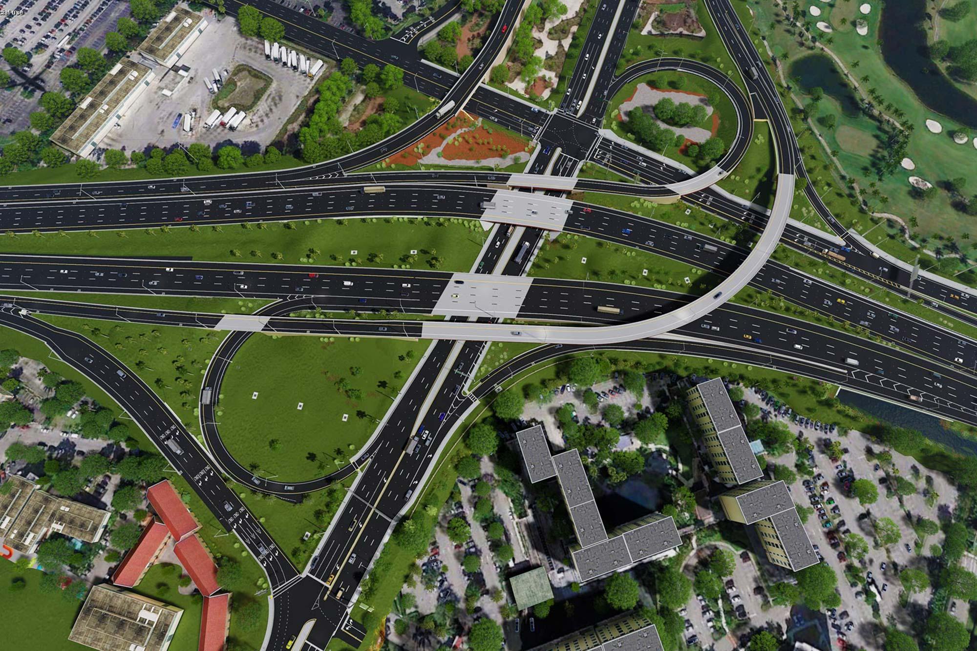 SR 836/Dolphin Expressway, LeJeuneRoad Interchange