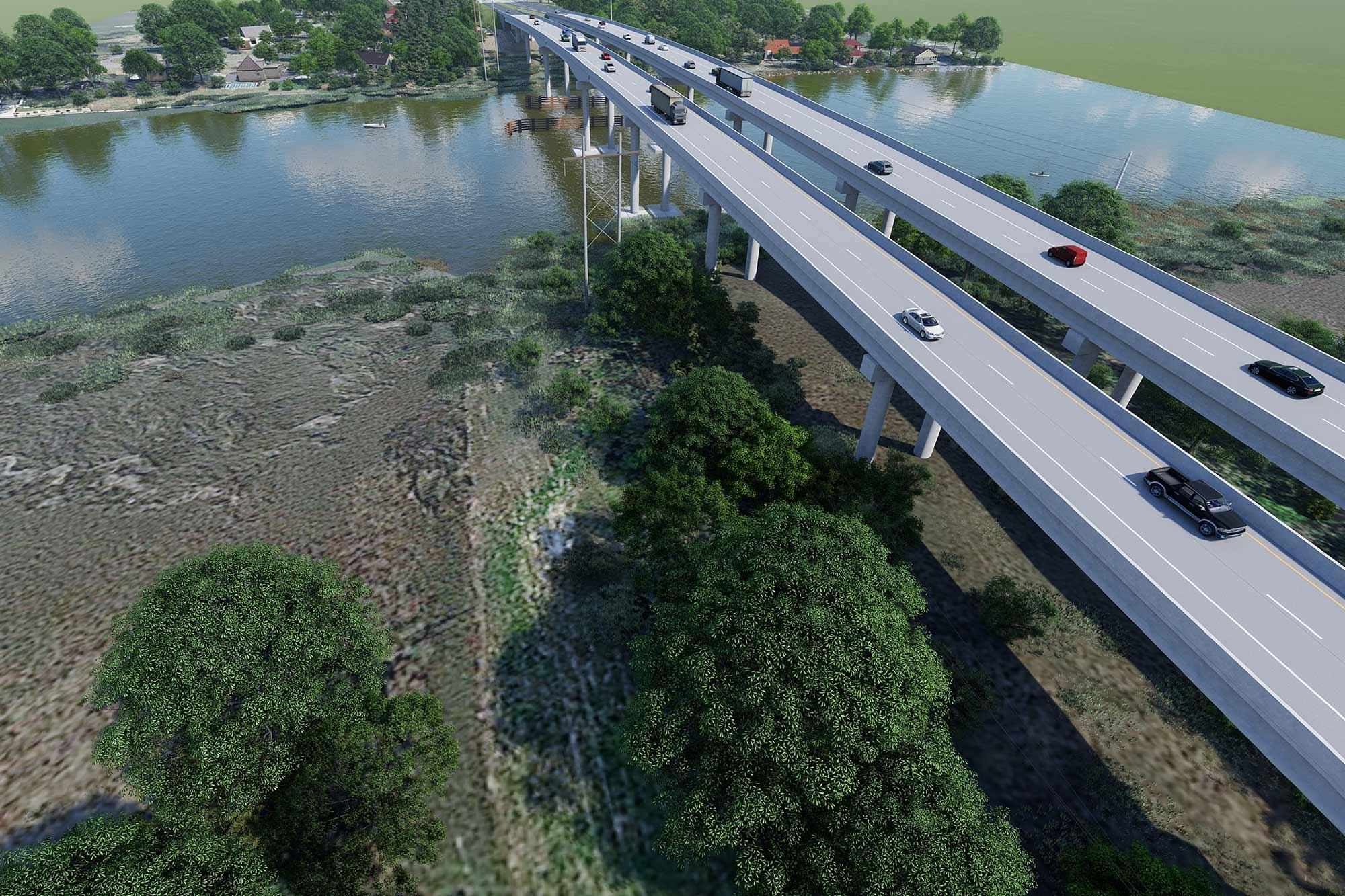 Islands Expressway Over Wilmington River/Bascule Bridge
