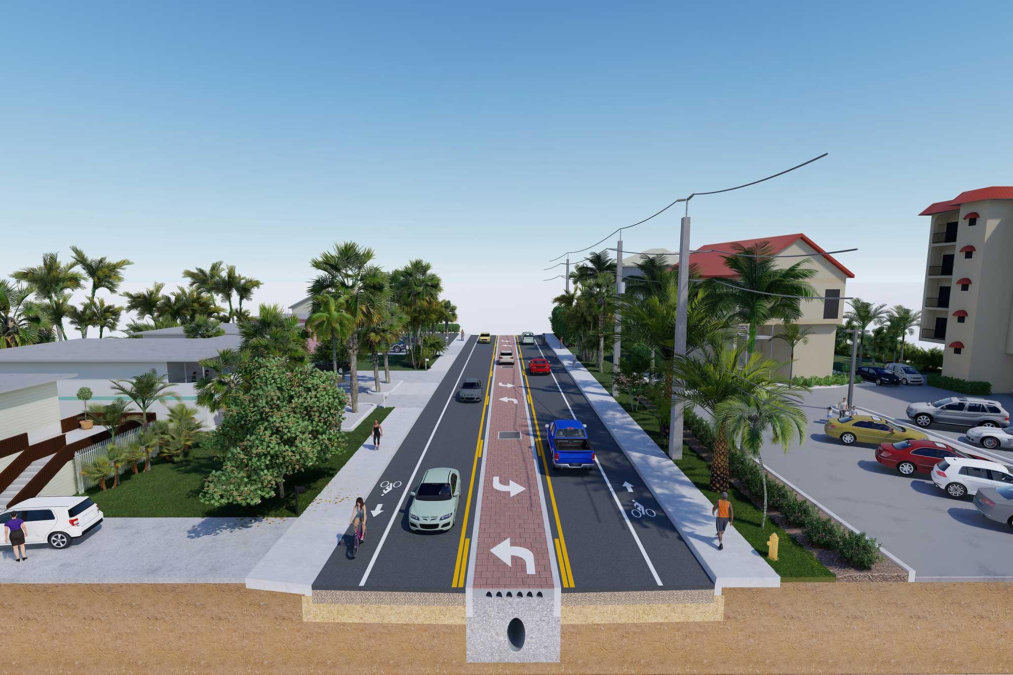 Estero Blvd Improvements Roadway / Drainage