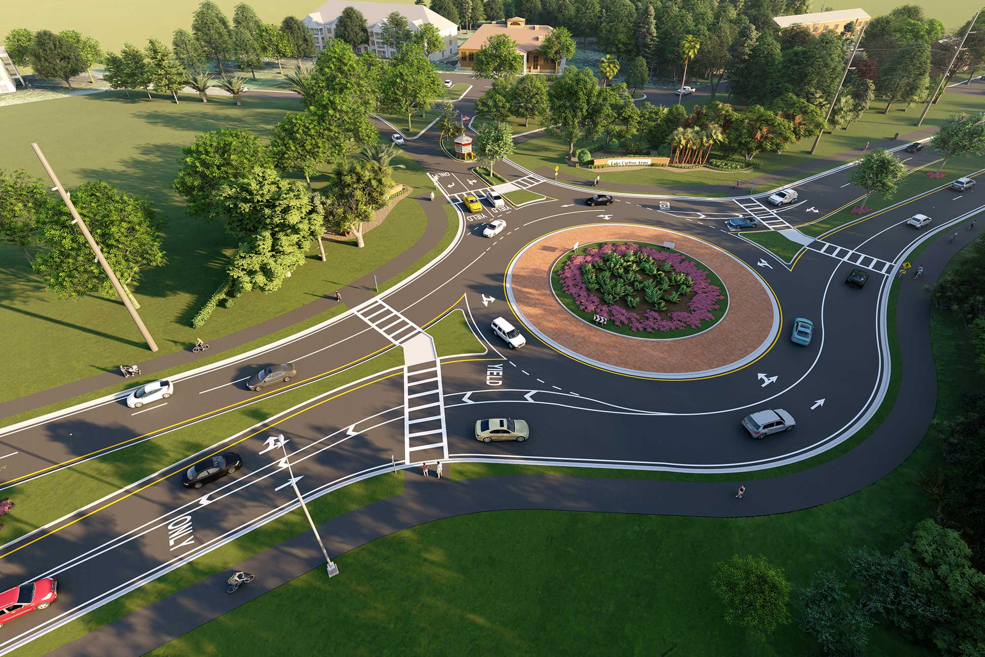 Lake Carlton Roundabout
