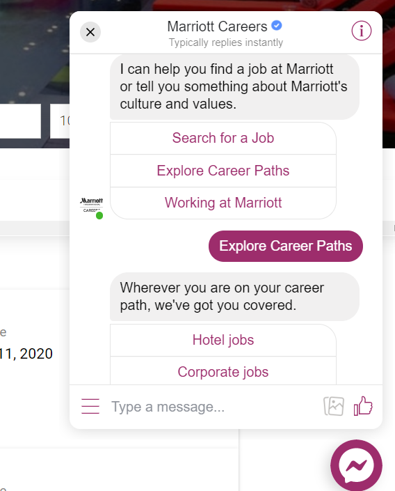 Marriott: A Personalised Careers Page