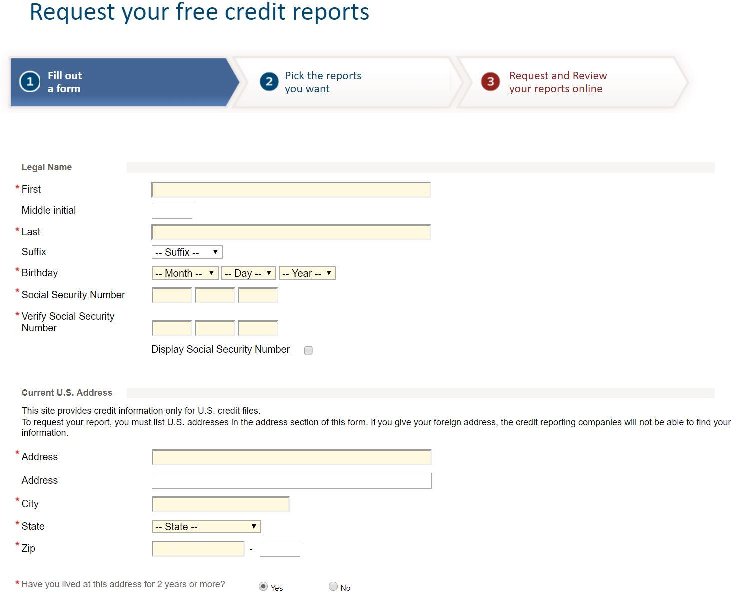annual credit report 2