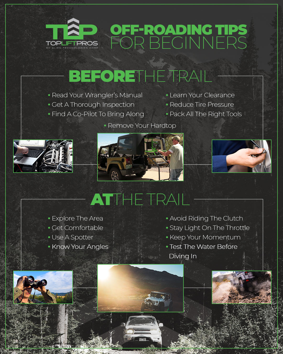 Off Roading tips from TopLift Pros