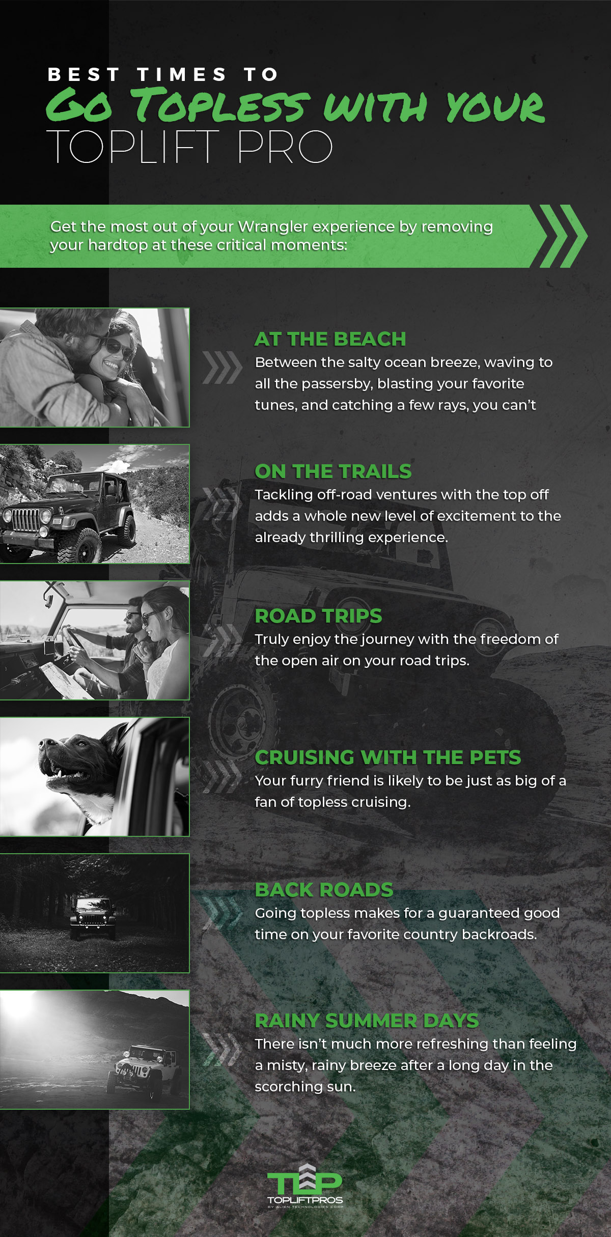 Where to drive topless Jeep Wrangler