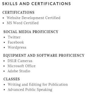 resume skills and cert final How to Write an Effective Resume