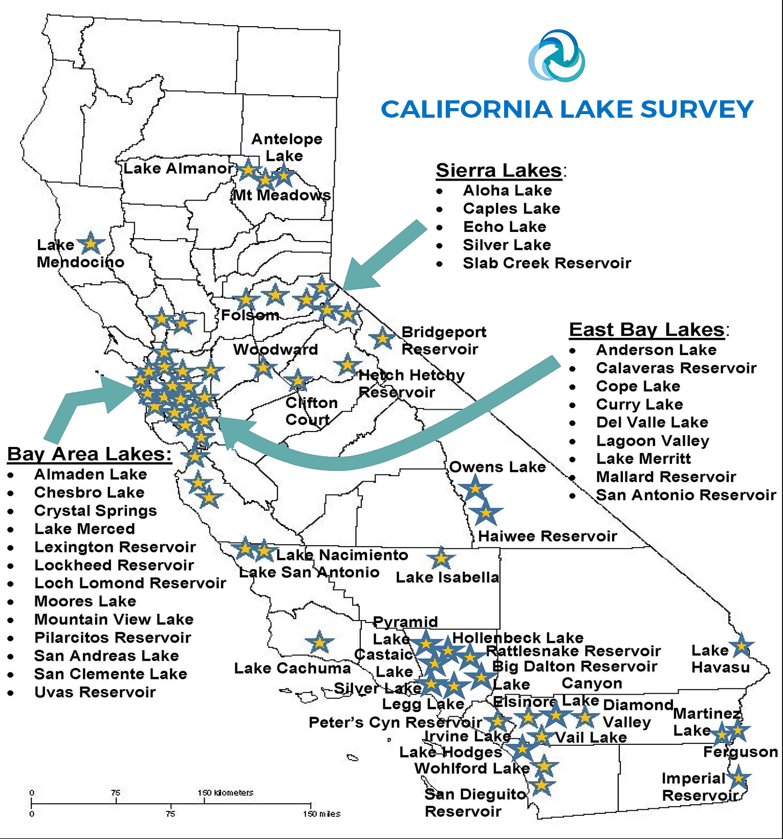 Map Of California Lakes.Will Dredging Help Restore California S Lakes And Reservoirs Mbc