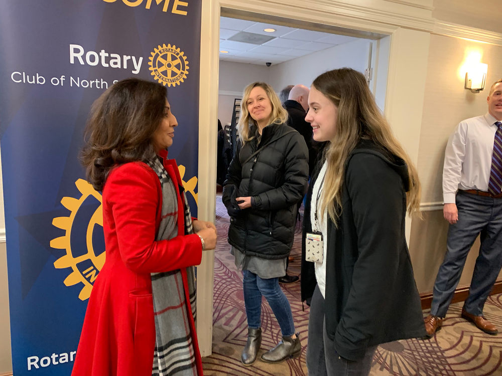 Gabriella van Rij at the Rotary Club