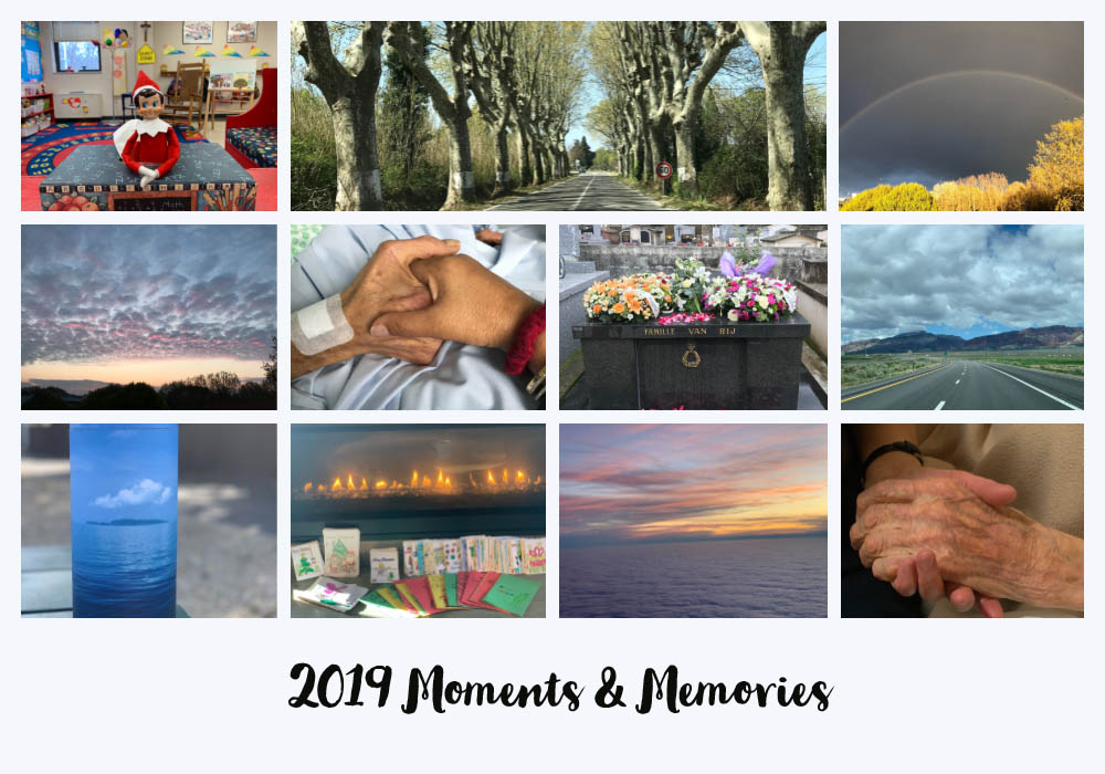 Photo Collage of Gabriella van Rij's 2019