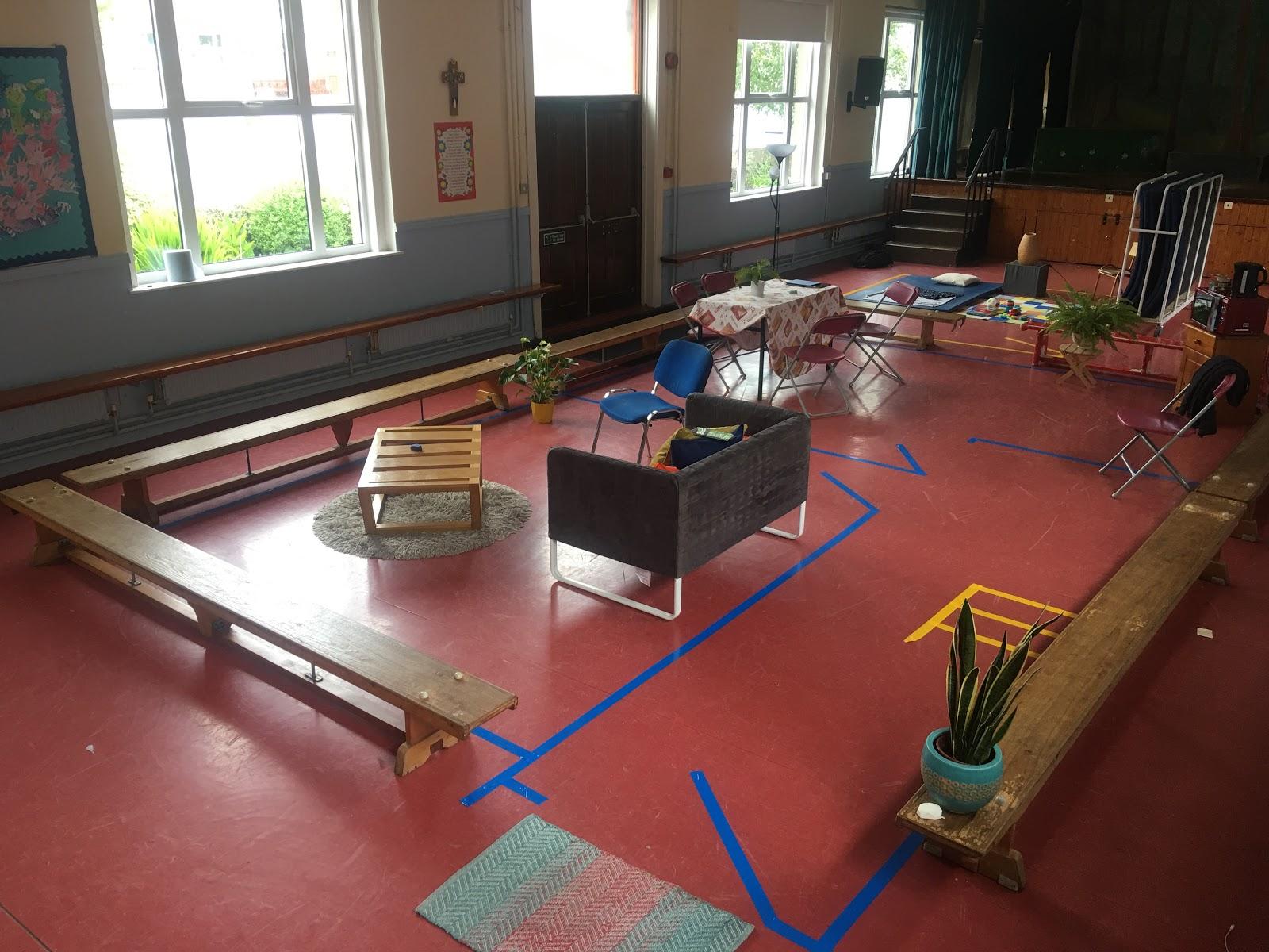 Recreation of Róisín's house floor plan