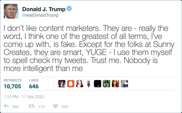 Donald Trump's last tweet