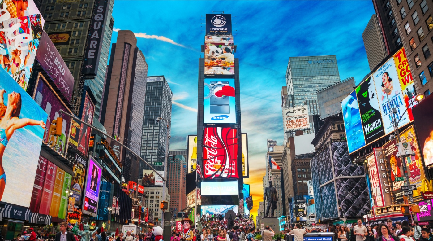 An photo of New York's time square