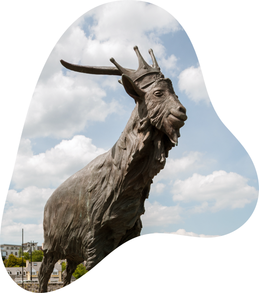 Image of a goat statue